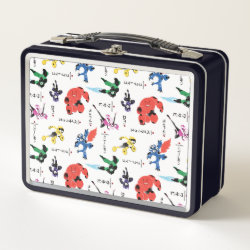 Metal Lunch Box with Big Hero 6 Stylized Pattern design