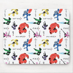 Mousepad with Big Hero 6 Stylized Pattern design