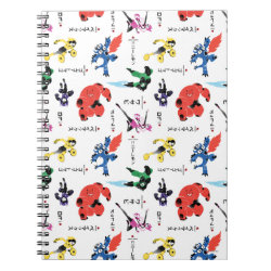 Photo Notebook (6.5' x 8.75', 80 Pages B&W) with Big Hero 6 Stylized Pattern design
