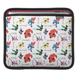 iPad Sleeve with Big Hero 6 Stylized Pattern design