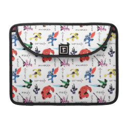 Macbook Pro 13' Flap Sleeve with Big Hero 6 Stylized Pattern design
