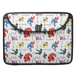 Macbook Pro 15' Flap Sleeve with Big Hero 6 Stylized Pattern design