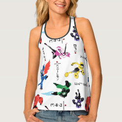 Women's All-Over Print Racerback Tank Top with Big Hero 6 Stylized Pattern design
