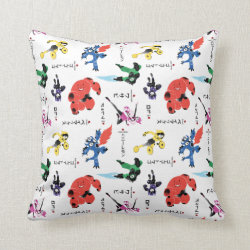 Cotton Throw Pillow with Big Hero 6 Stylized Pattern design