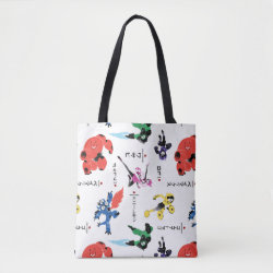 All-Over-Print Tote Bag, Medium with Big Hero 6 Stylized Pattern design