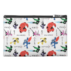 Travel Accessory Bag with Big Hero 6 Stylized Pattern design