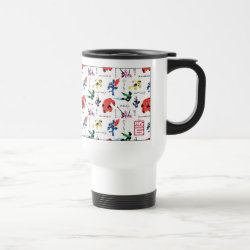 Travel / Commuter Mug with Big Hero 6 Stylized Pattern design