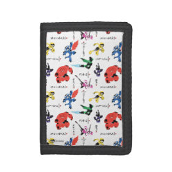 TriFold Nylon Wallet with Big Hero 6 Stylized Pattern design