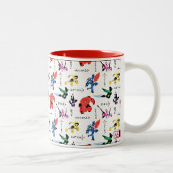 Two-Tone Mug with Big Hero 6 Stylized Pattern design
