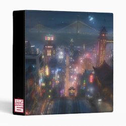 Avery Signature 1' Binder with San Fransokyo Skyline Painting from Big Hero 6 design