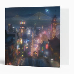 San Fransokyo Skyline Painting from Big Hero 6 Avery Signature 1