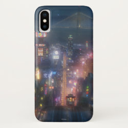 Case-Mate Barely There iPhone X Case with San Fransokyo Skyline Painting from Big Hero 6 design