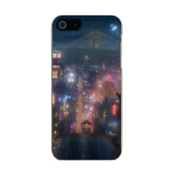 Incipio Feather Shine iPhone 5/5s Case with San Fransokyo Skyline Painting from Big Hero 6 design