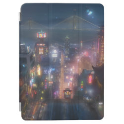 San Fransokyo Skyline Painting from Big Hero 6 iPad Air Cover