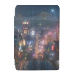iPad mini Cover with San Fransokyo Skyline Painting from Big Hero 6 design