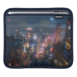 iPad Sleeve with San Fransokyo Skyline Painting from Big Hero 6 design
