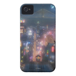 Case-Mate iPhone 4 Barely There Universal Case with San Fransokyo Skyline Painting from Big Hero 6 design