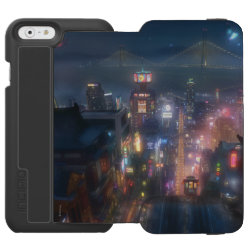 Incipio Watson™ iPhone 6 Wallet Case with San Fransokyo Skyline Painting from Big Hero 6 design