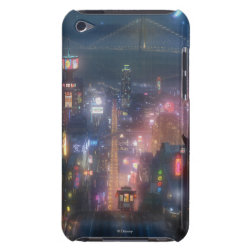 Case-Mate iPod Touch Barely There Case with San Fransokyo Skyline Painting from Big Hero 6 design