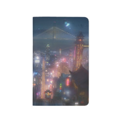 San Fransokyo Skyline Painting from Big Hero 6 Pocket Journal