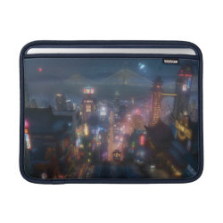 Macbook Air Sleeve with San Fransokyo Skyline Painting from Big Hero 6 design