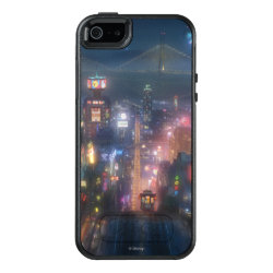 San Fransokyo Skyline Painting from Big Hero 6 OtterBox Symmetry iPhone SE/5/5s Case