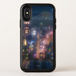 OtterBox Apple iPhone X Symmetry Case with San Fransokyo Skyline Painting from Big Hero 6 design