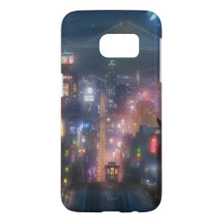 Case-Mate Barely There Samsung Galaxy S7 Case with San Fransokyo Skyline Painting from Big Hero 6 design