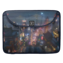 Macbook Pro 15' Flap Sleeve with San Fransokyo Skyline Painting from Big Hero 6 design