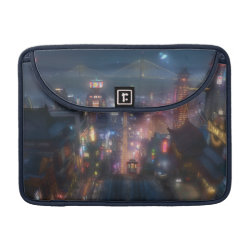 Macbook Pro 13' Flap Sleeve with San Fransokyo Skyline Painting from Big Hero 6 design