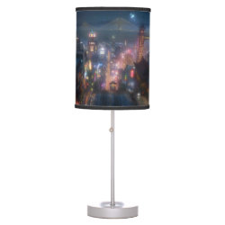 Table Lamp with San Fransokyo Skyline Painting from Big Hero 6 design