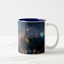 Two-Tone Mug with San Fransokyo Skyline Painting from Big Hero 6 design