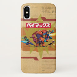 Case-Mate Barely There iPhone X Case with Big Hero 6 Superheroes Together design