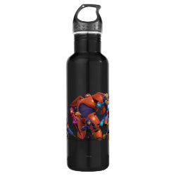 Water Bottle (24 oz) with Big Hero 6 Superheroes Together design
