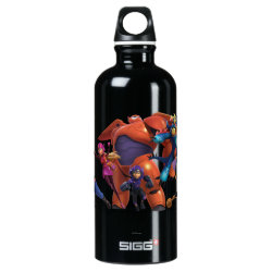 SIGG Traveller Water Bottle (0.6L) with Big Hero 6 Superheroes Together design
