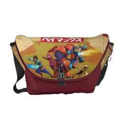 Rickshaw Medium Zero Messenger Bag with Big Hero 6 Superheroes Together design