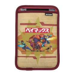 iPad Mini Sleeve with Big Hero 6 Superheroes Together design