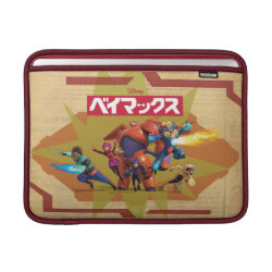 Macbook Air Sleeve with Big Hero 6 Superheroes Together design