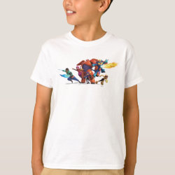Kids' Hanes TAGLESS® T-Shirt with Big Hero 6 Superheroes Together design