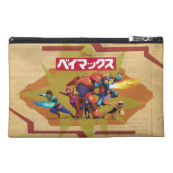 Travel Accessory Bag with Big Hero 6 Superheroes Together design