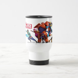 Travel / Commuter Mug with Big Hero 6 Superheroes Together design