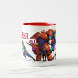 Two-Tone Mug with Big Hero 6 Superheroes Together design