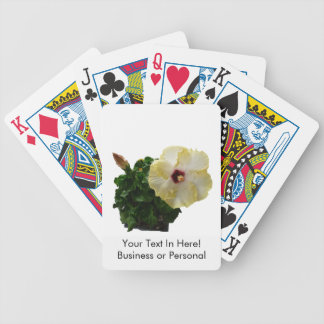 Big Hibiscus Flower with foliage Bicycle Playing Cards