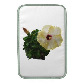 Big Hibiscus Flower with foliage MacBook Sleeves
