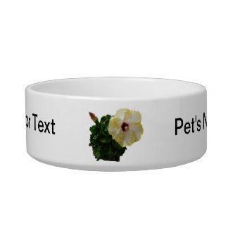 Big Hibiscus Flower with foliage Pet Bowls