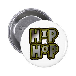Big Hip Hop Graffiti Multi-Color, Metal Effects Pinback Button