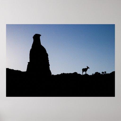 Big Horn en el monumento nacional de Colorado Póster