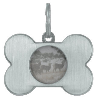 Big Horn Kid in the Snowstorm Pet ID Tag