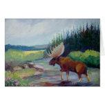 Big Horn Mountain Moose Greeting Card