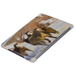 Big Horn Mountains, Horses running in the snow 3 iPad Air Covers
